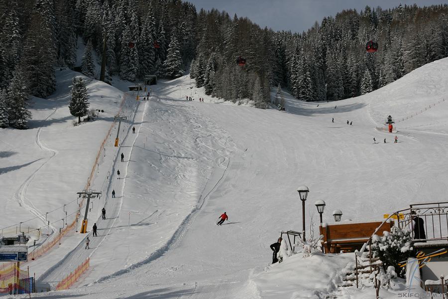 Pista Ciampinoi 3: una delle piste più tecniche della Val Gardena