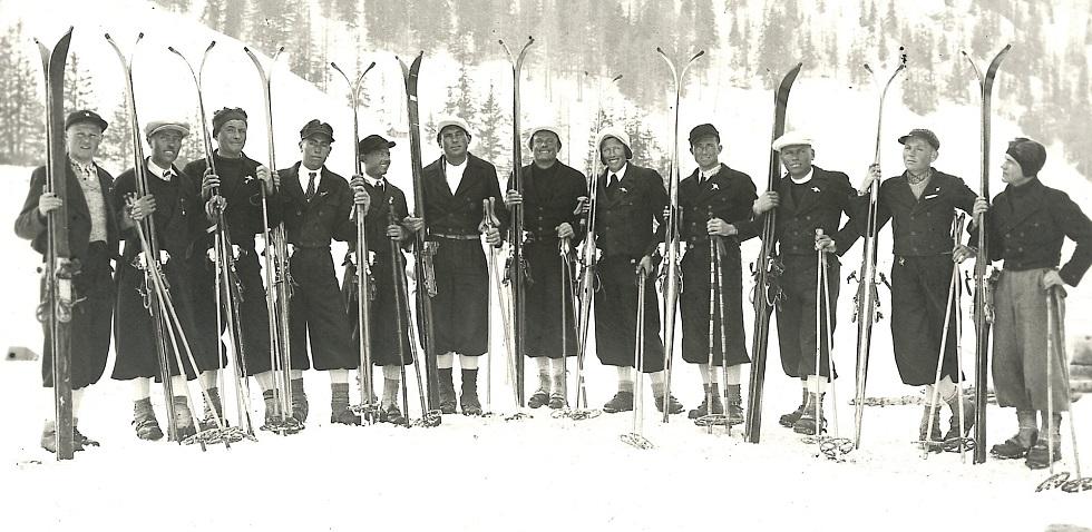 sciatori d'epoca
