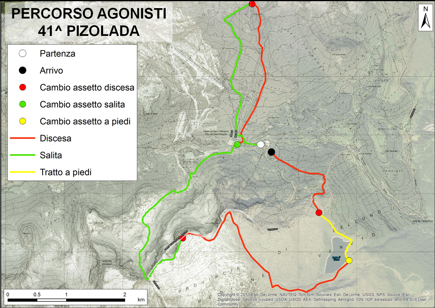 percorso Pizolada