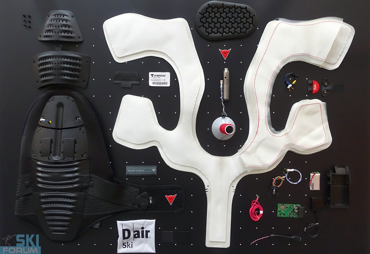 D-Air di Dainese (airbag for skiers)