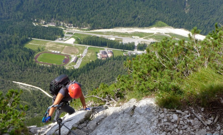 immagine news Ferrata Punta Fiames
