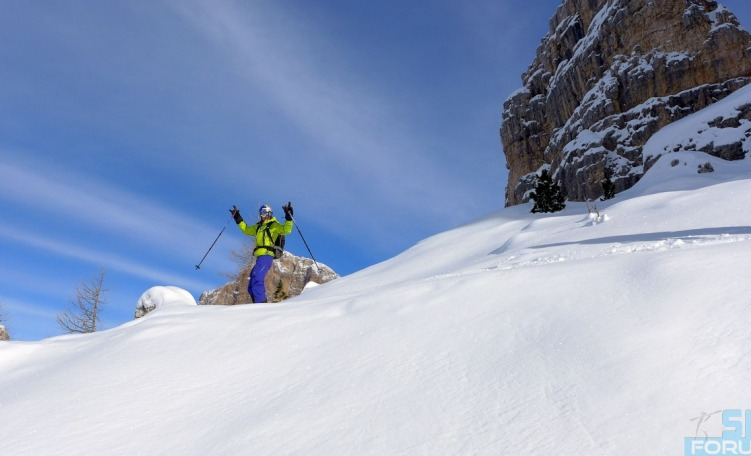 Freeride facile in Dolomiti