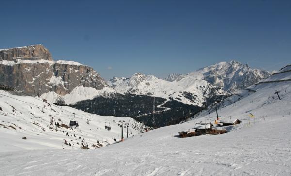 skiarea col rodella e belvedere di canazei