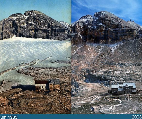 Confronti Ghiacciai Delle Alpi  Come Erano 50 Anni Fa E