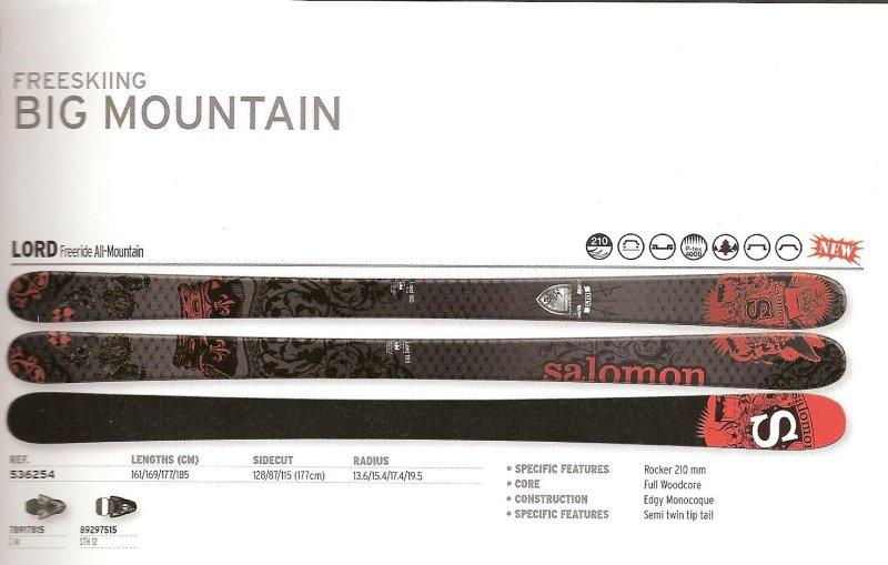 Salomon 2012 Lord Twin Tip Skis