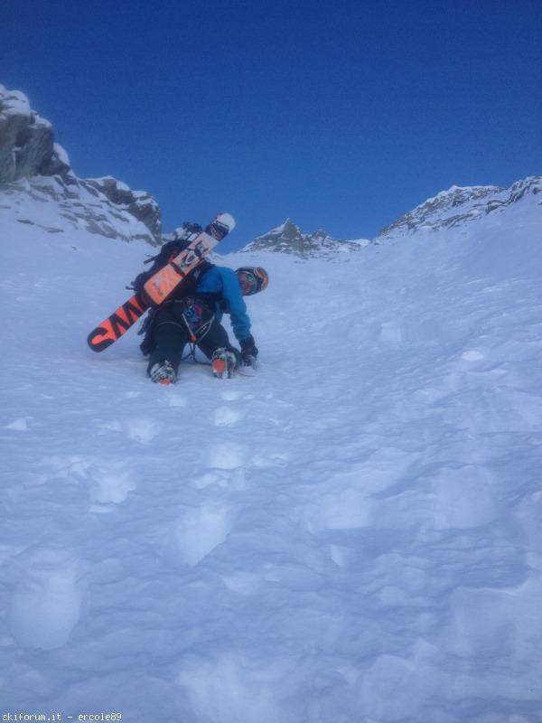 Di nuovo una gran sciata sulla nord della busazza via for Cabine sulla sponda nord